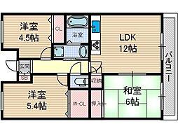 グリーンヒルパート3[2階]の間取り