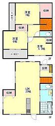 [一戸建] 広島県福山市西新涯町2丁目 の賃貸【広島県 / 福山市】の間取り