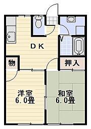 カルム桜山[102号室]の間取り