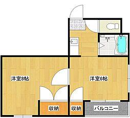 セラ北加賀屋A[4階]の間取り