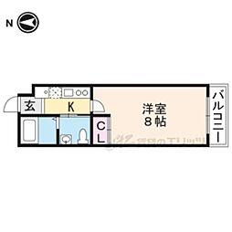 RANDOR RESIDENCE KYOTO CLASSIC 4階1Kの間取り