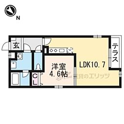 L-STEED岸部Central 1階1LDKの間取り