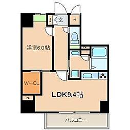 シー・クリサンス神戸[8階]の間取り