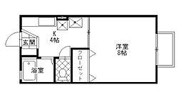 セジュール元町[2階]の間取り