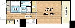メゾン・ド・ヴィレ大阪城公園前[8階]の間取り