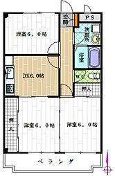 ルミナスマンション[3階]の間取り