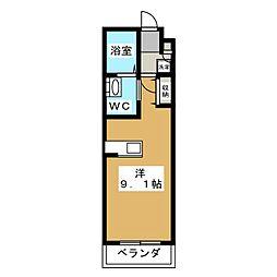 メディアーナ丸太町[2階]の間取り
