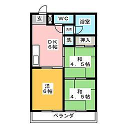 チヨダマンション小池[5階]の間取り
