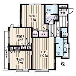 高橋邸[2階]の間取り