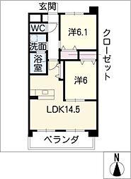 アリュールK[5階]の間取り