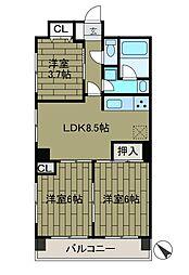 クリオ淵野辺弐番館[4階]の間取り