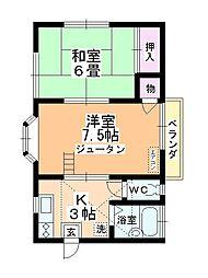 サンシティ上福岡[201号室]の間取り