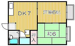 イースト千里[1階]の間取り