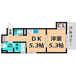 Osaka Metro長堀鶴見緑地線 蒲生四丁目駅 徒歩8分の賃貸アパート 3階1DKの間取り
