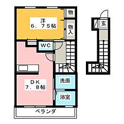 ganador 21 B[2階]の間取り
