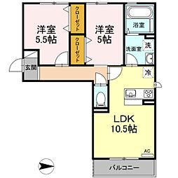 仮)D-room今保 B棟[3階]の間取り
