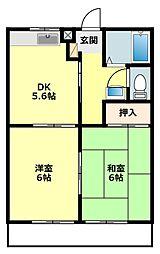 愛知県岡崎市欠町の賃貸マンションの間取り
