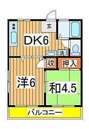 小西第5マンション[201号室]の間取り