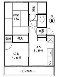 田辺マンション[102号室]の間取り