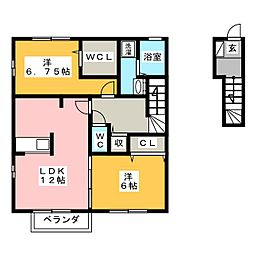 サンパティック[2階]の間取り