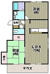 コートロッジパートI[1階]の間取り