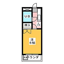 パールハイツ松原[2階]の間取り