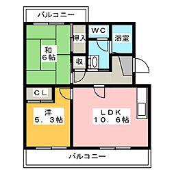 メディオ初生弐番館[2階]の間取り