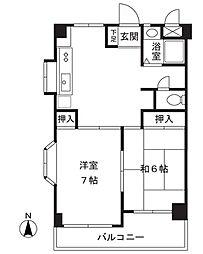 ドエルパープルシャトー[3階]の間取り