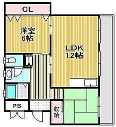 ヒヤリホーム[305号室]の間取り