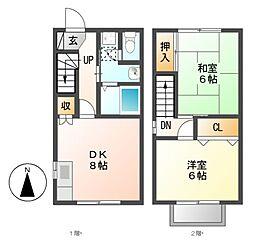 ファミール21[1階]の間取り
