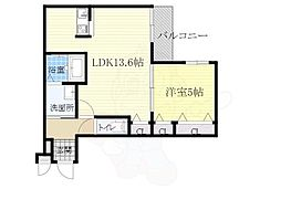 阪急宝塚本線 蛍池駅 徒歩9分の賃貸アパート 1階1LDKの間取り