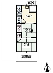 日吉荘[1階]の間取り