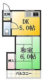 第1司荘[13号室]の間取り