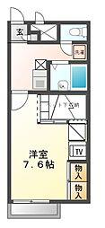 レオパレス三田ウチダ2号館[1階]の間取り