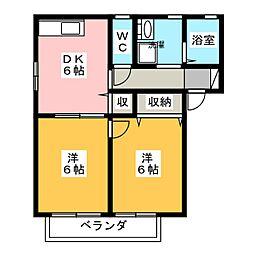 メゾンドルミエール[2階]の間取り