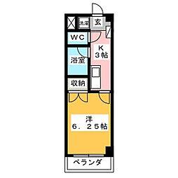 グラン・コンフォール三田[104号室]の間取り
