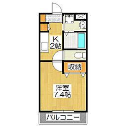 コテージタケダ[203号室]の間取り