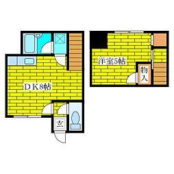 清田6−2コーポ[2階]の間取り