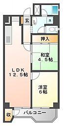 チサンマンション第1江坂[5階]の間取り