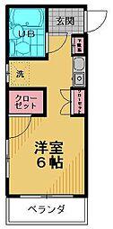 ミヤ・クレール百草[201号室]の間取り