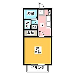 メゾン聖[2階]の間取り