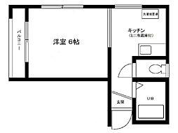東京都江戸川区江戸川2丁目の賃貸マンションの間取り