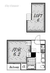 Cielo Azul YADA[2階]の間取り
