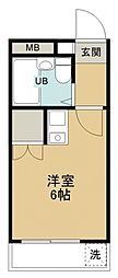 オパール館新所沢[309号室号室]の間取り