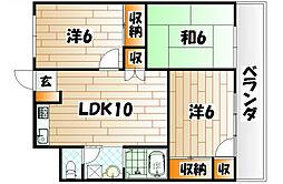 関門スカイプラザビル[8階]の間取り
