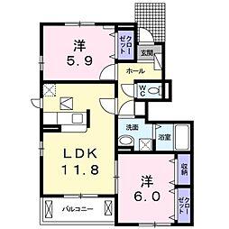 ビアンコ B棟[1階]の間取り