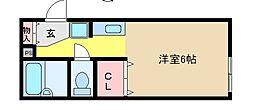 兵庫県神戸市東灘区住吉宮町3丁目の賃貸アパートの間取り