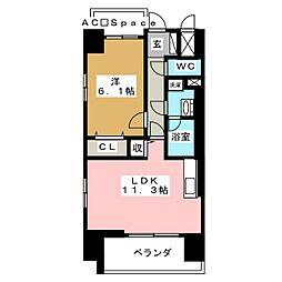 FUTURE HOKIMA 6階1LDKの間取り