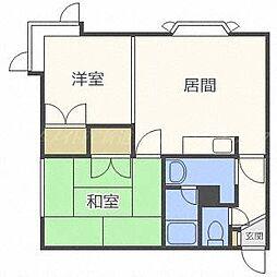 北海道札幌市東区北三十八条東21の賃貸アパートの間取り