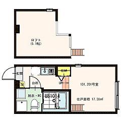 東京都葛飾区東立石2丁目の賃貸アパートの間取り